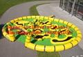 2016 новый Завод прямые Надувные игры, Надувной стадион, трек KYG-69
