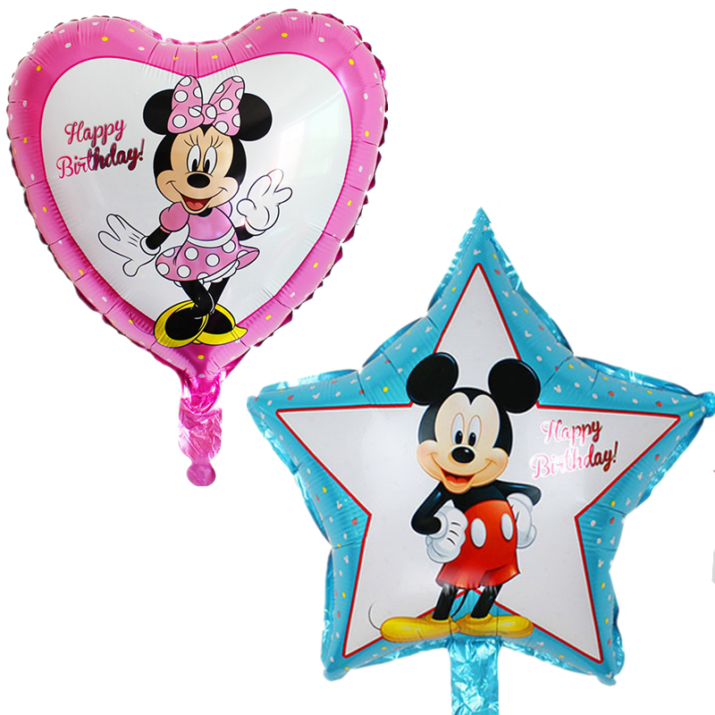 ộ_ộ ༽10 unids/lote Mickey Minnie Mouse baby shower foil Globos ...