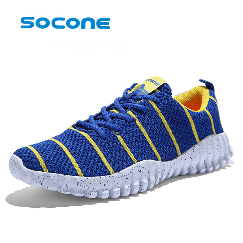 ФОТО socone Lightw breathable running shoes men and women sneakers Cushioning outdoor sport shoes Professional Training shoes flywire
