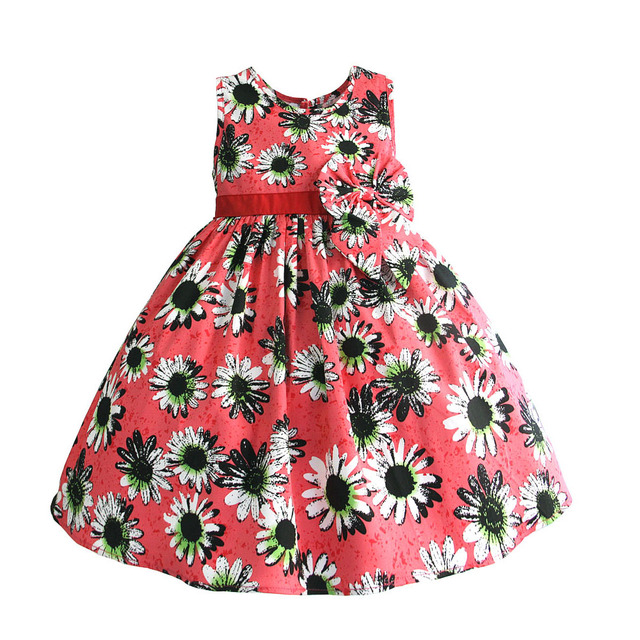 1bc804defb26 Girls Dress Baby Elegant Party Teenager Fashion Baby Kids Dresses For Girls  Summer Clothes Toddler Children Clothing 1-6T