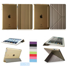 For Apple iPad 2 3 4 Smart Case Original 1:1 Tablet Leather For A1460`A1459`A1458`A1416`A1430`A1403`A1395`A1396  fold case  alangduo 5pcs for ipad 3 a1416 a1430 a1403 ipad 4 a1458 a1459 a1460 ipad3 ipad4 apple lcd display screen replacement