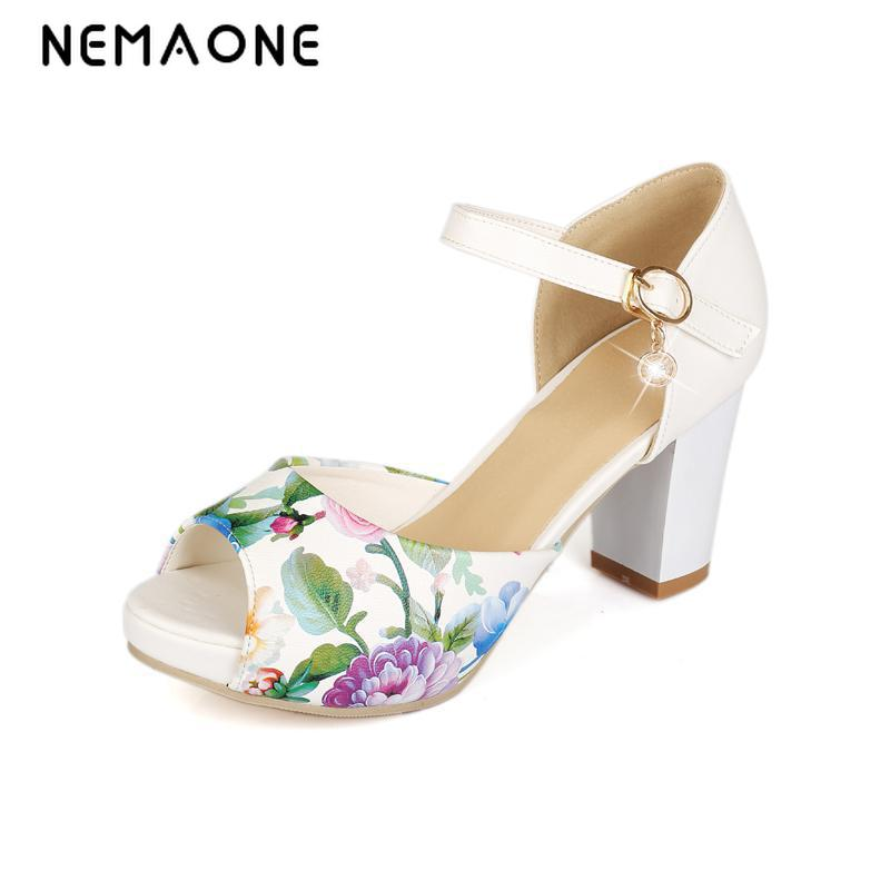New women sandals summer shoes thick heel high heels sandals soft leather women shoes platform peep toe shoes woman summer shoes woman platform sandals women soft leather casual peep toe gladiator wedges women 7cm high heel shoes zapatos mujer