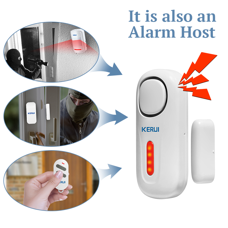 Awesome KERUI Door/Window Entry Security Burglar Sensor Alarm PIR Door Magnetic  Wireless Alarm System Security With Remote Control  In Alarm System Kits  From ...