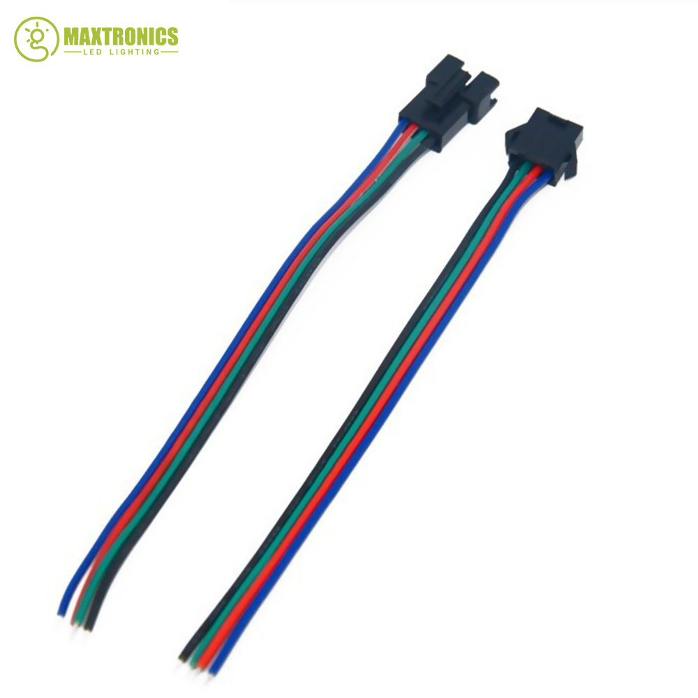 8 Pairs Jst 4pin Connector For 3528 5050 Rgb Led Light Strips Cable Tape Along With Multicolor Wiring Wire Free Shipping In Connectors From Lights Lighting On Alibaba
