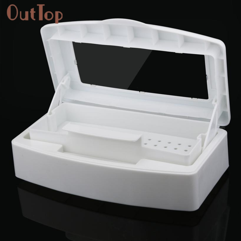 Hot Best Deal Beautiful Women Sterilizer Tray Box Sterilizing Clean Nail Art Salon Manicure Implement Tool DX28