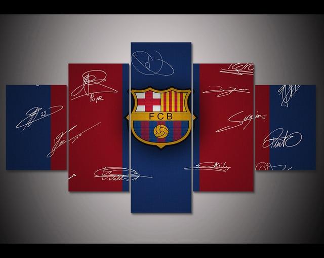 HD Print 5 pcs FC football canvas wall art painting Home Decor wall ...
