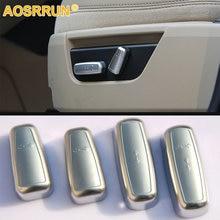 AOSRRUN автомобильные аксессуары ABS хромированная отделка автомобильного сиденья регулятор переключатель крышки наклейки для Land Rover Freelander 2 2008- L359 HSE