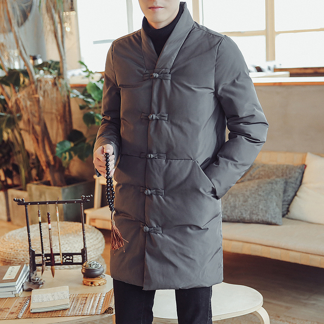 Best Price Men Parka Outerwear Coat Plus Size Chinese Style Retro Long Jackets Mens Winter Jackets Ste Homme Hiver Chaqueta Hombre Invierno
