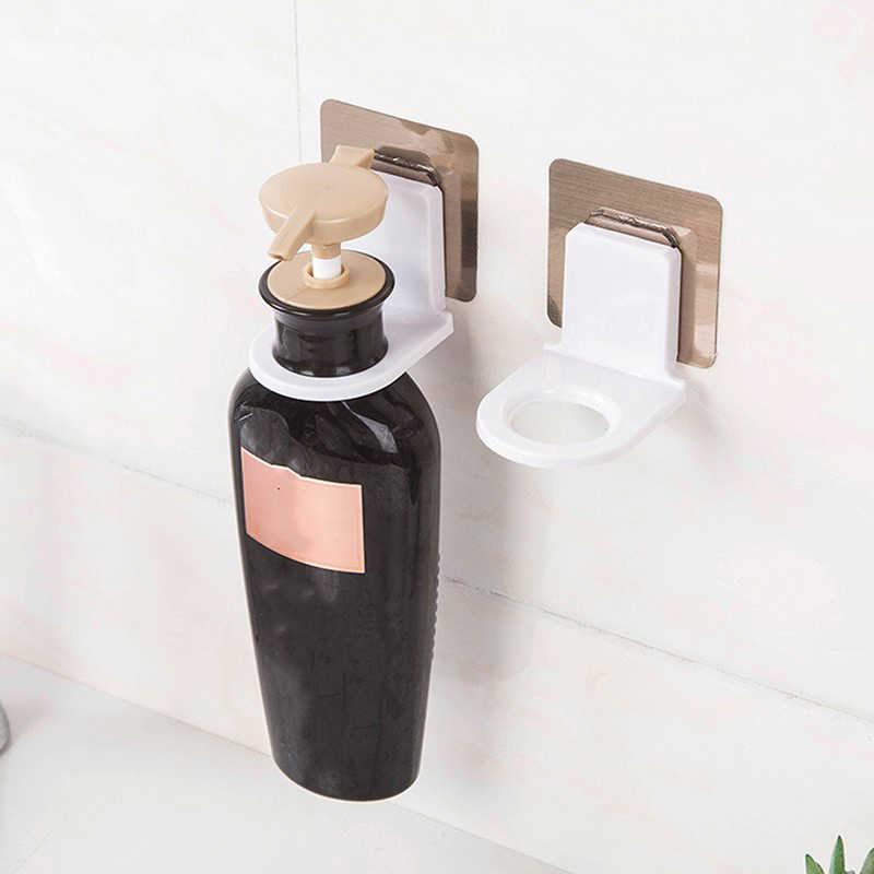 Łazienka żel pod prysznic hak kuchenny uchwyt na mydło w płynie stojak wielofunkcyjny wieszak na butelkę prosty na ścianę stojak na szampon przyssawka ścienna