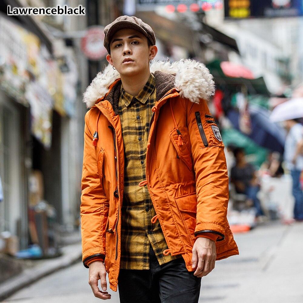 2018 Herren Winter Unten Jacke Hohe Qualität Windbreaker Parka Dicke Warme Einfarbig Männlichen Mantel Mit Kapuze Jacken Und Mäntel 1556