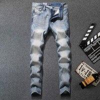 Dsel Designer Men Jeans Classic Men S Clothing Casual Denim Regular Blue Jean Pants Male Famous