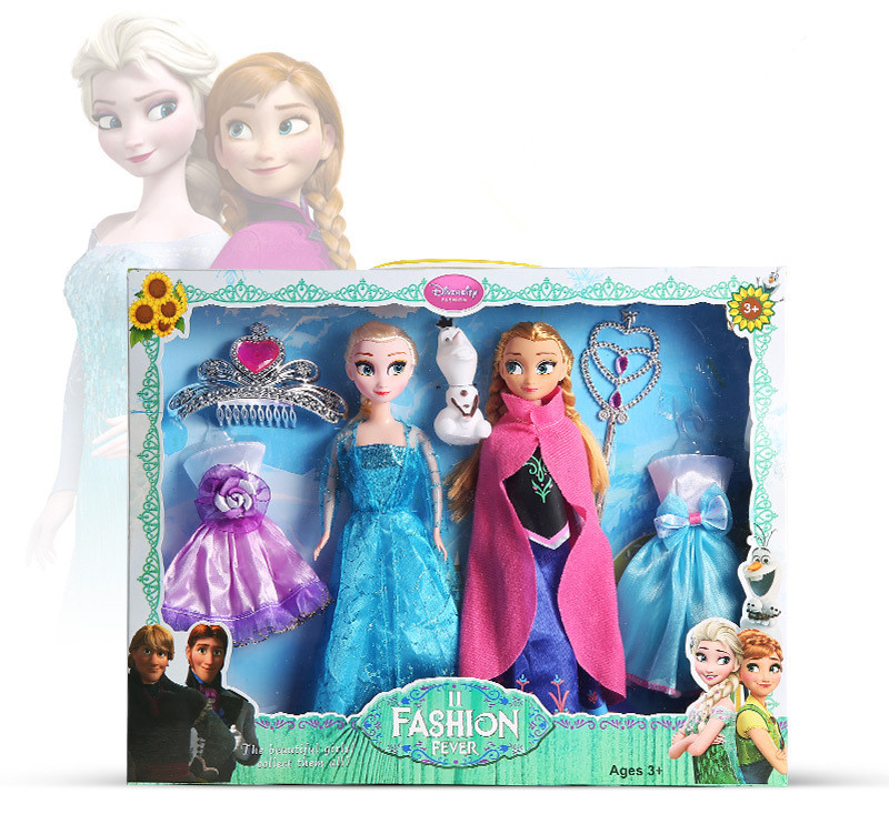 5d12c88926 Disney 30 cm Dolls Frozen Princess Elsa Anna Toys Ice and Snow Doll Change  clothes Accessories Toy for Girl Christmas Gift Suit-in Dolls from Toys    Hobbies ...