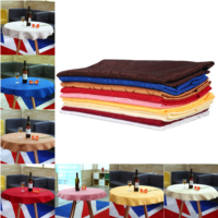 product Lootus 1M Round Tablecloth Tabel Cover Cloth Toalha De Mesa Nappe Chic Flower Pattern Wedding Banquet 10 Color