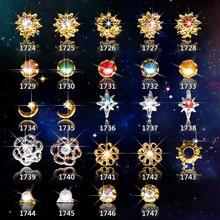 10pcs New Crystal Colourful Nail Rhinestone Alloy Nail Art Decorations DIY Glitter Bride 3D Nail Jewelry