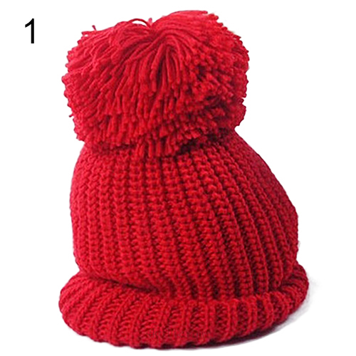 Hot  Women's Winter Knit Cap Warm Oversized Cuffed Beanie Crochet  Bobble Beanies knitting Retail/Wholesale  5BWP 7FGB hot winter beanie knit crochet ski hat plicate baggy oversized slouch unisex cap