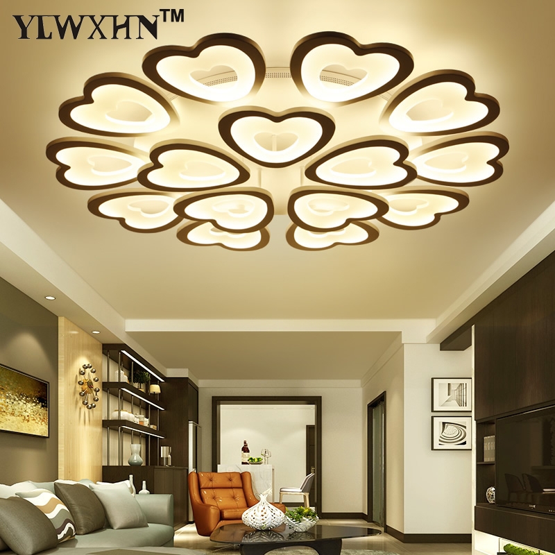 2017 Real Abajur Moderne Ceiling Lights Led To Modern Living Room Lamps Acrylic Decorative Lamparas Of Techo Subsection Control led circular ceiling lamps chinese real wood art acrylic modern minimalist bedroom study decorated living room ceiling lights za
