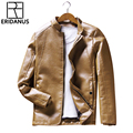 2016 Autumn Winter New Arrivals Slim Fit Fashion Trend Motorcycle Punk Style Leather Jacket Men's Casual Locomotive Jacket M342