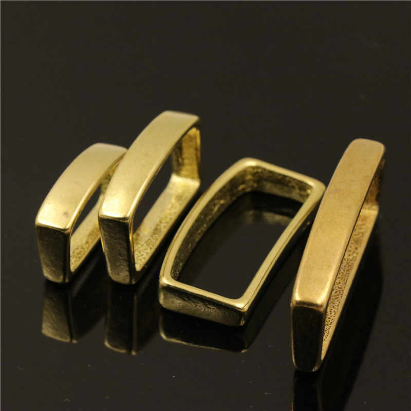 2 шт Твердый латунный ремень Хранитель D ремень в форме петля кольцо Пряжка для кожаного мешочек ручного изготовления ремень 16 мм 20 мм 25 мм 32 мм 40 мм
