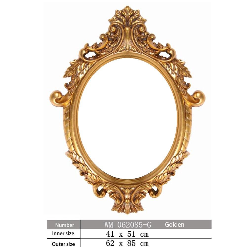 Photo Frame Stile Europeo Retro Toilette Specchio del Bagno Cornice Dello Specchio Per La Decorazione Della Parete di Arte