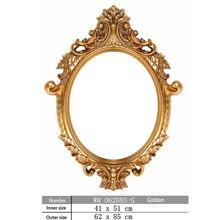 Photo Frame European Style Retro Toilet Mirror Bathroom Mirror Frame For Decoration Wall Art