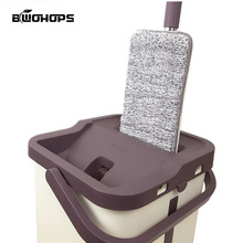 Mop-Bucket Magic-Cleaner Squeeze Wash-Drying-System Floor 360-Rotate Touchless Lazy Self-Wringing
