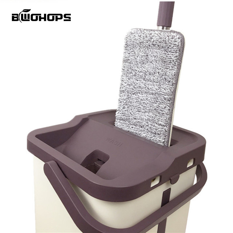 NEW Hard Floor Lazy Mop Bucket Magic Cleaner Rotate Self wringing Squeeze Double Sided Swab Rags Automatic Wash Drying System-in Buckets from Home & Garden