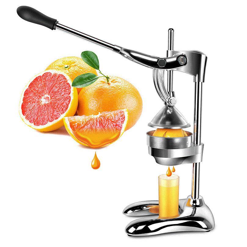HIMOSKWA Stainless Steel Citrus Fruits Squeezer Orange Lemon Manual Juicer Commercial Fruit Pressing Machine Hand Press Juicer