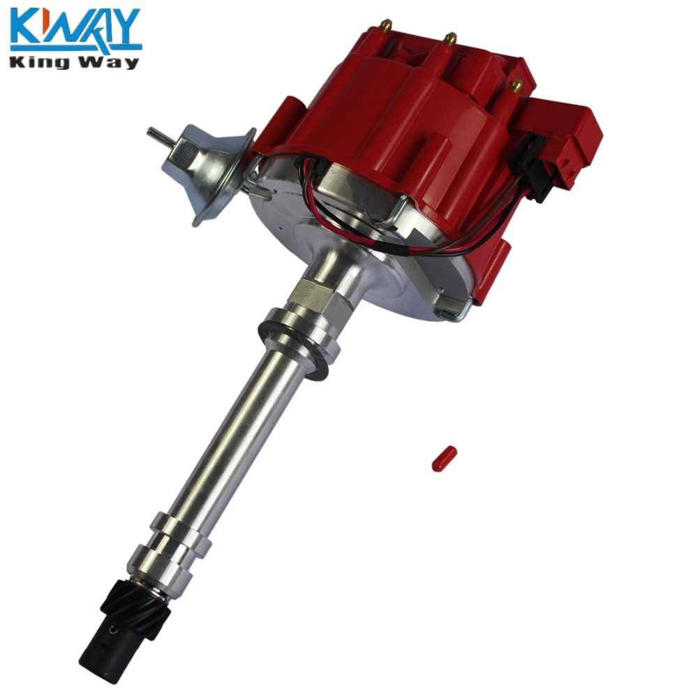 FREE SHIPPING-King Way- High Performance Red Cap HEI Distributor For Chevy/gm Small Block Big Block 65k