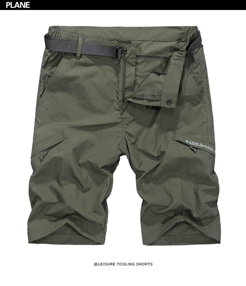60b703c495 2019 HANQIU Waterproof Military Cargo Shorts Men Summer Quick Dry ...
