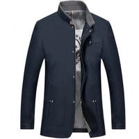 Mens Vestes Et Manteaux Casual Veste Hommes Automne Printemps Affaires Vêtements Mandarin Collar Zipper Slim Fit Manteau Hommes Robe Formelle