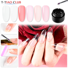 Quick Poly Extension Nail Gel Set Pink White Clear Nude UV LED Builder Extend Gel Tips Soak off Building Nails Art Decorations недорого