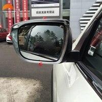 Para NISSAN MURANO 2015 2016 abs cromo Do Carro Espelho Retrovisor Guarda Retrovisor espelho Chuva Sombra Toldos abrigos carro modelo