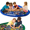 Портативный Дети Ребенок Младенец Multifuction Большой игрушки Для Хранения Организатор Одеяло Ковер