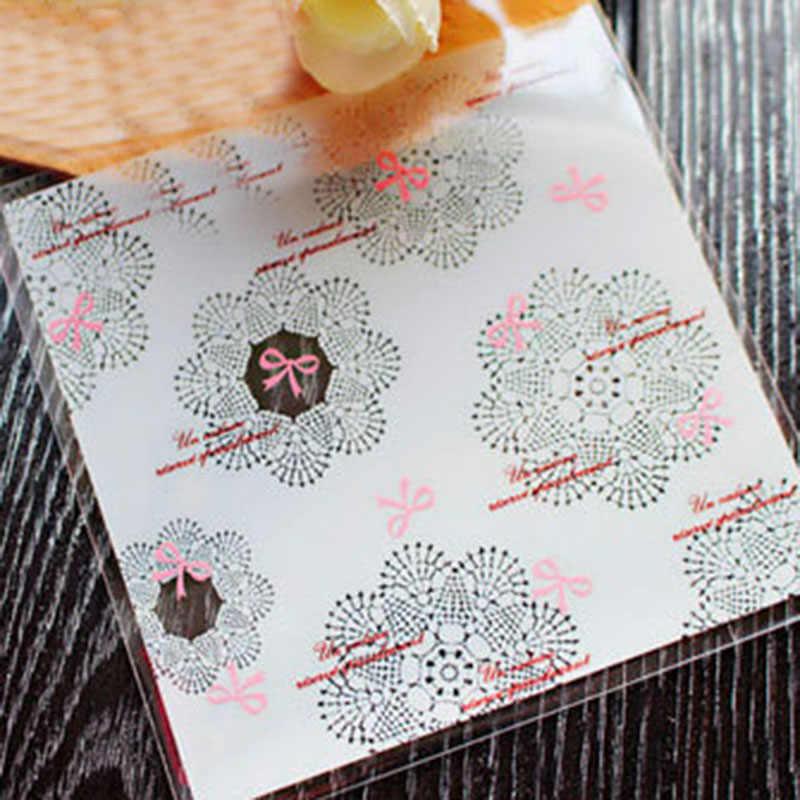 7x7 cm Tự Dính Túi Kẹo Hoa Nhỏ Túi Nhựa Trang Trí Đám Cưới Quà Tặng Năm Mới Đóng Gói Túi Giáng Sinh dự Tiệc Cung Cấp