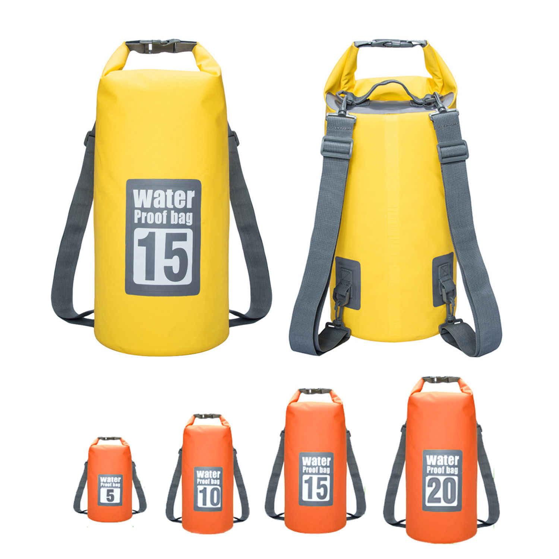 5L-30L 屋外川トレッキングバッグダブルショルダーストラップ水泳防水バッグバックパックドライ主催者漂流カヤック