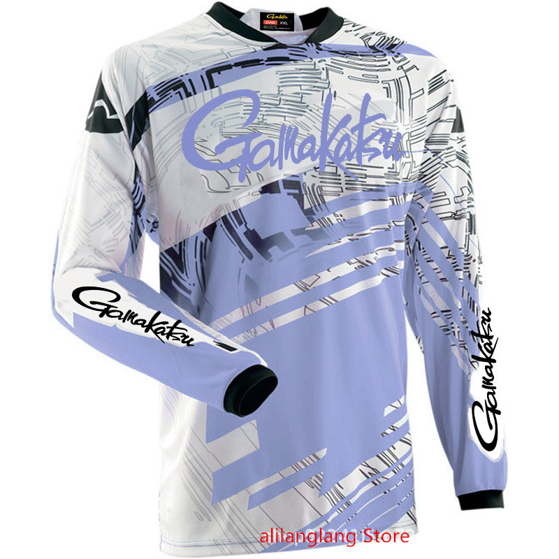 2019 Summer New Gamakatsu Long Sleeve Fishing Shirt Quick Dry Fishing Clothing Anti-UV Sunscreen Fishing Clothes