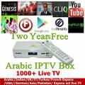 Best Selling Android TV Box IPTV Blanco 1/8 GB IPTV Árabe Caja de Envío 1000 Películas Dos Año de Suscripción envío Reloj