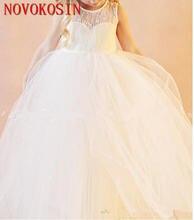 2019 винтажные платья для девочек с открытой спиной и цветочным