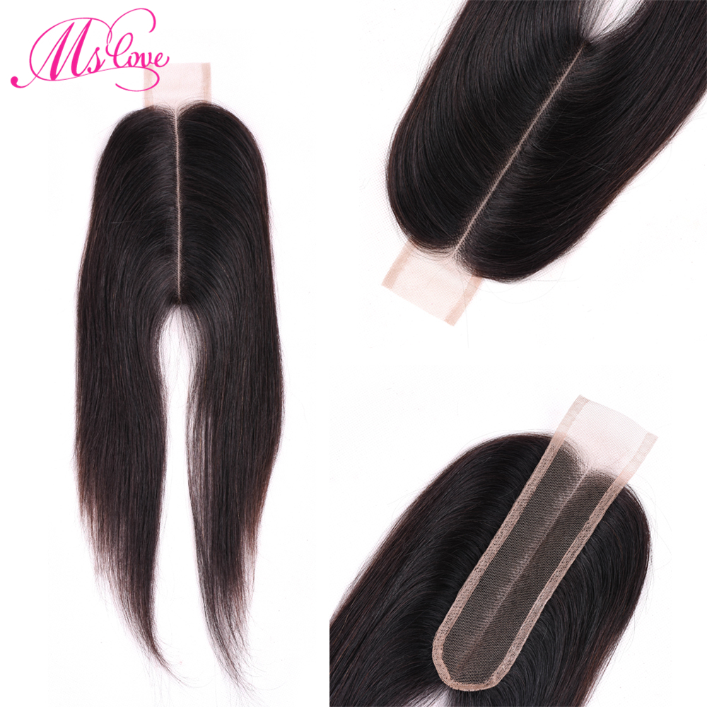 Mslove 2x6 Lace Closure 2*6 Closure Brazilian Hair Kim K Human Hair Closure Non Remy Middle Part	Natural Hair Extension