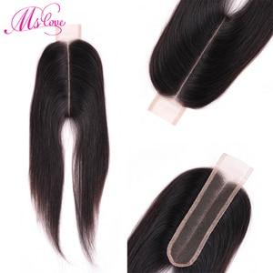 Mslove 2x6 Lace Closure 2*6 Closure Brazilian Hair Kim K Human Hair Closure Non Remy Middle PartNatural Hair Extension