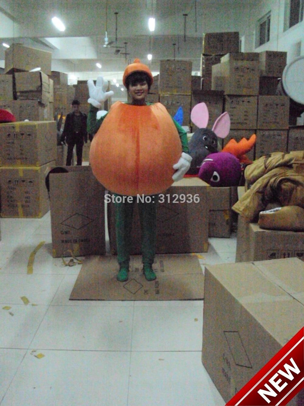 2017 New Mascot Costume Adult Character Costume Mascot As Fashion Freeshipping Cosplay Orange