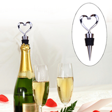 1PC Heart Shaped Red Wine Bottle Stopper Twist Wedding Favor Gifts Home Decor Bar Tools