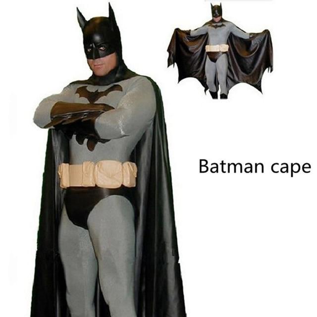 Batman vs Superman Batman Cape Cloak Dark Knight costume kids child adults  mask Halloween Party Black Mask Cosplay Avengers man 05822741bc586