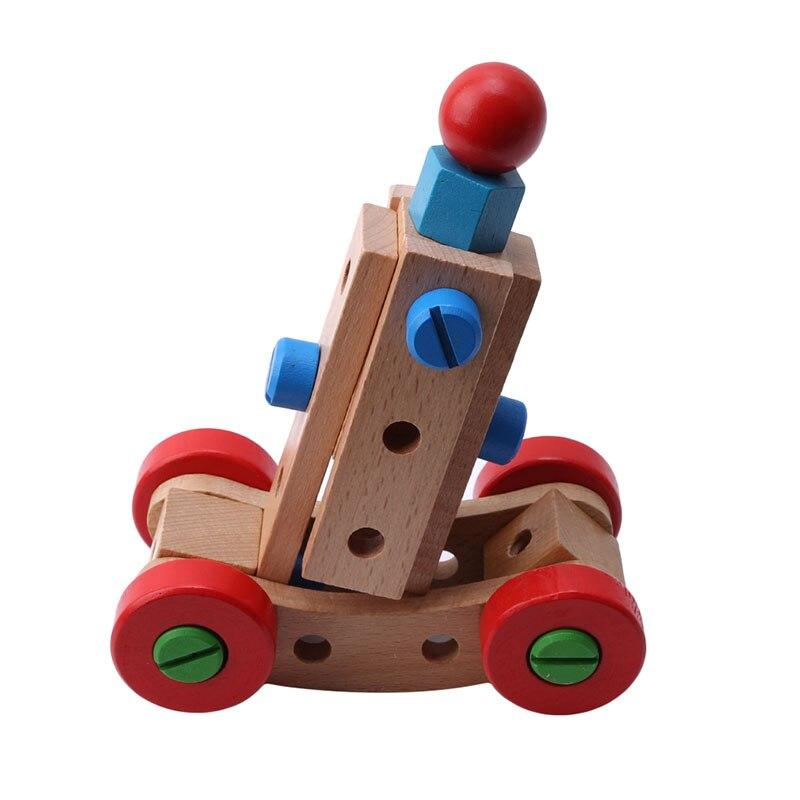 Houten Educatief Speelgoed Moer En Schroef Monteren Demonteren Verwisselbare Nut Bouwstenen Car Voor Kinderen 31 Capsules Geurige (In) Smaak