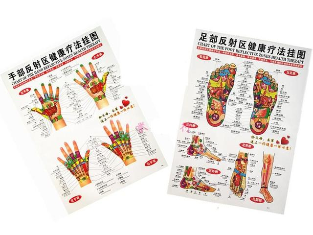 Chart of foot hand reflective point zone health therapy massage acupuncture acupoints medical study chinese english waterproof also rh aliexpress