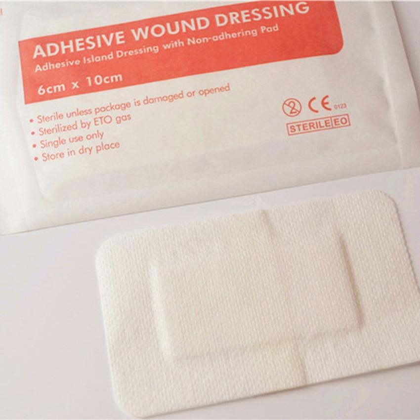 10 PCS Medical Gauze Sterile Applicator Bandage Hemostatic Wound Dressing Pads 6 X10cm