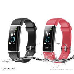 Сенсорный экран активности здоровья трекер с сна сердечного ритма мониторы беспроводной Шагомер фитнес Интеллектуальный браслет для ios