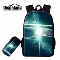 Dispalang Creative 2 Pieces Set Starry Sky Backpacks For Boys Girls Casual Day Pack School Bags