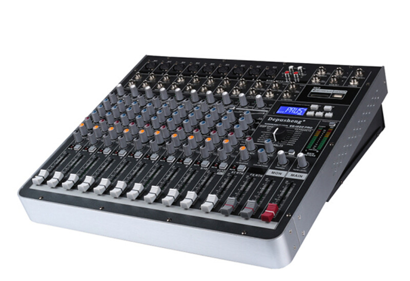 EG1222PRO High Power  Professional All-in-one Mixing  Audio Console Power Amplifier 12 Channel Mixer