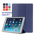 """Новая Мода для Apple iPad Pro 9.7 """"стенд Случаи Tablet Смарт Обложка Складной Ультра Тонкий Кожаный PU Case for iPad Pro 9.7 Дюйма"""